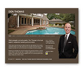 Tipping Group portfolio piece of the Don Thomas, Realtor customized website design.